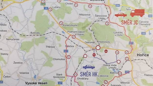 Objízdná trasa kvůli uzavírce železničního přejezdu v Ostroměři od 2. do 8. dubna.