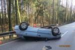 Havárie vozidla u Nové Paky.