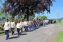 Historická vojska u Kbelnice.