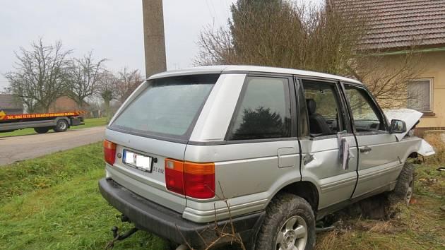 Nehoda roveru u Liběšic.