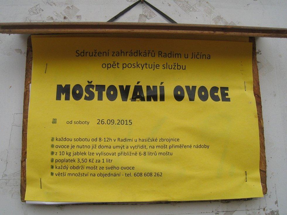 Moštovna v Radimi.