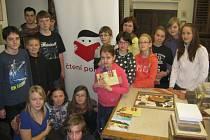 Hořičtí školáci v rožďalovickém Muzeu knihařství.