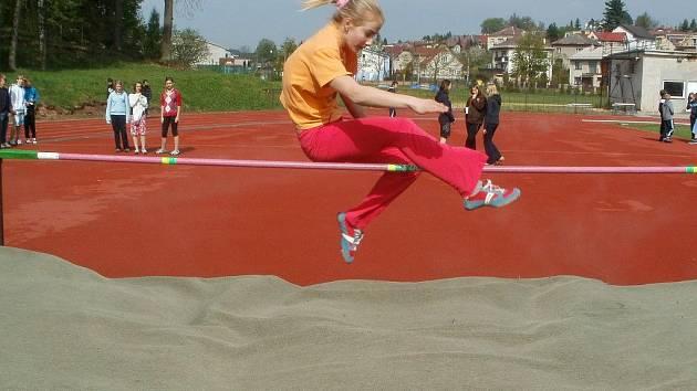 Také skok vysoký je součástí soutěže družstev.
