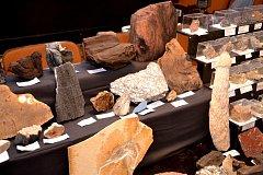 Výstava drahých kamenů, achátů, minerálů a zkamenělin.