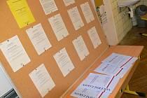 Volební lístky.