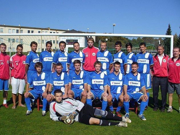 Mužstvo SK Jičín B, které přezimuje na 11. místě 1. B třídy, skupina A.