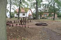 Obnova parku kolem bývalé léčebny.