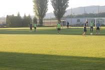 Valdické fotbalové hřiště.