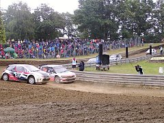 Čtvrtý závod mistrovství Evropy v autokrosu v německém Matschenbergu.