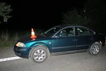 Nehoda opilého řidiče u Kbelnice.