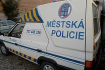 Automobil hořické městské policie.