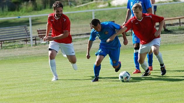 Z utkání  Železnice - Jičín (1:2).