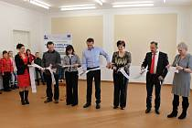 Ze slavnostního otevření kulturního a vzdělávacího centra v Kopidlně.