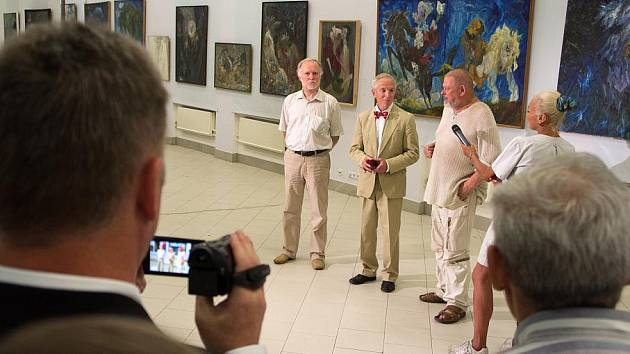 Z vernisáže výstavy obrazů Michaila Ščigola v Kyjevě.