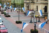 Výzdoba před festivalem Jičín - město pohádky.