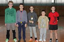 Turnaj ve florbale konaný v hale SOU Lázně Bělohrad.