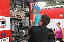 Exkurze u hořických hasičů.