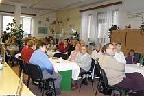 Z první schůzky Klubu aktivních seniorů.