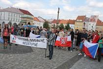 Protiromská demonstrace v Jičíně.