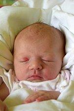 Eliška Bukačová se narodila 28. května s porodní mírou 50 cm a váhou 3,38 kg. Rodiče Lenka Nováková a Jan Bukač si svoje štěstí odvezli domů do Hořic.