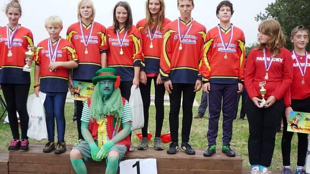 SNÍMEK z letošní soutěže mladých hasičů.