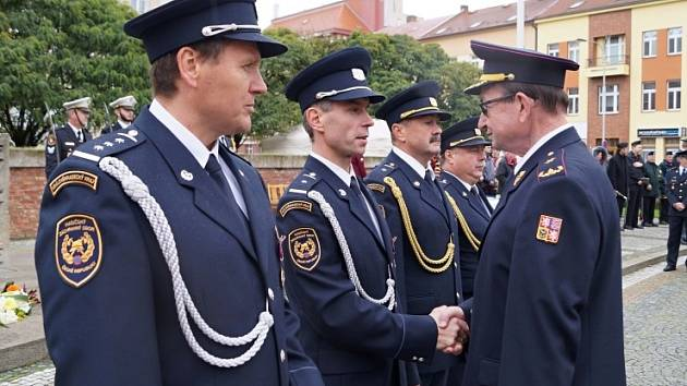 Ocenění hasičů v Hradci Králové