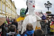 Průvod na festivalu Jičín - město pohádky.
