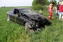 Dopravní nehoda u Ohnišťan.