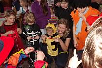 Maškarní karneval pro děti v Třebnouševsi.
