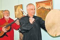 Štěpán Rak a Alfred Strejček ve vokšické galerii JB Spektrum Josefa Bucka.