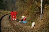Smrt na kolejích u Ostroměře.