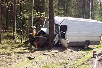 Tragická nehoda u Třebechovic.