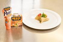 Vítězný recept z minulého ročníku - bezlepková palačinka plněná tvarohovo-tuňákovým krémem.