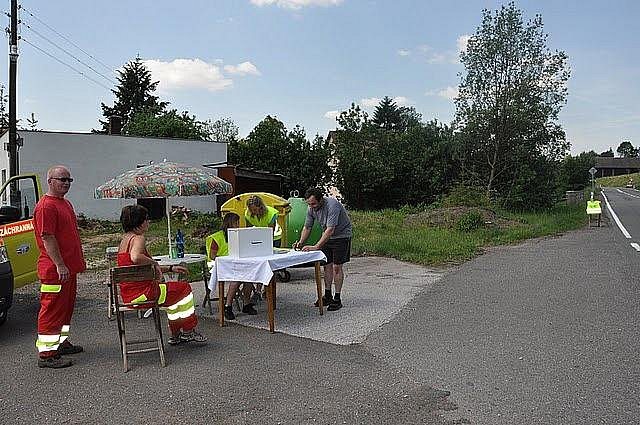 Akce v Čisté u Horek zaměřená na motoristickou veřejnost.