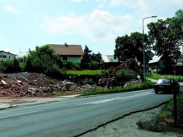 Zahájení výstavby novopacké prodejny Lidl.