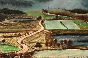 Obraz Vlastislava Hofmana nazvaný Před bouří.