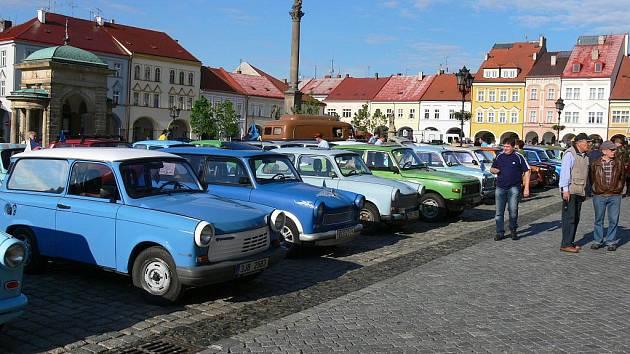 Ze setkání aut značky Trabant.