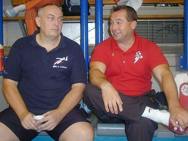Jičínští trenéři Míla Kůta a Pavel Babák.