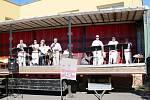 Na oslavě valdických hasičů zahrála hasičská hudba Šeucouská muzika se Skutče.