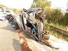Nehoda fordu u Sobotky.