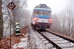 Střet vlaku s osobou v kolejišti v Nové Pace.