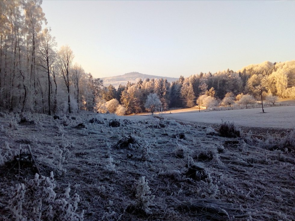 Zasněžené Jičínsko.