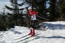 ELIŠKA PETERKOVÁ při závěrečném závodu Královéhradeckého poháru v běhu na lyžích.