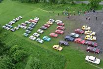 Ze srazu automobilů značky Lada.