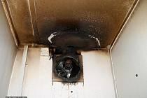 Požár v budově Obecního úřadu Ohařice.