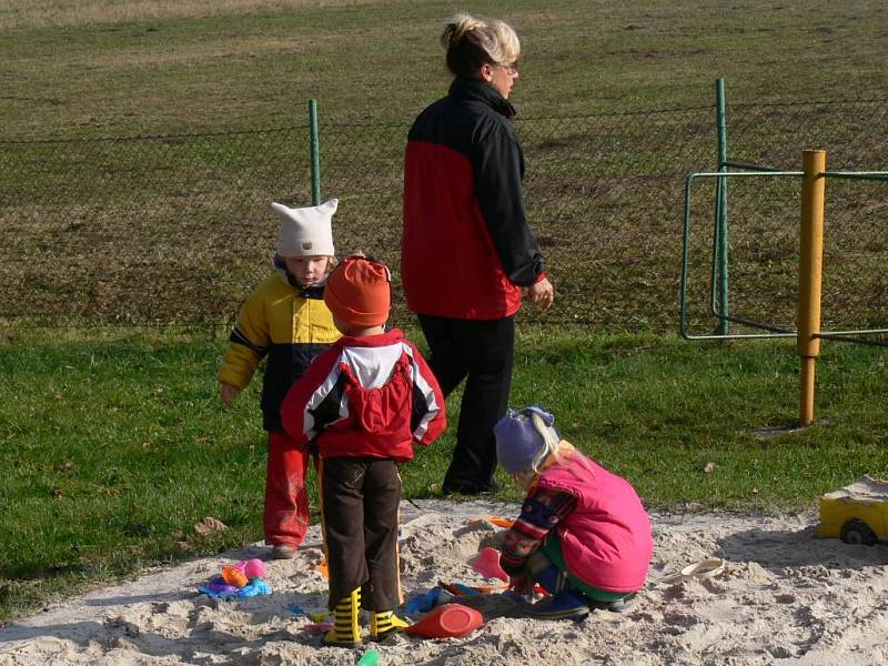 Dětem se v kněžnické mateřské školce líbí.
