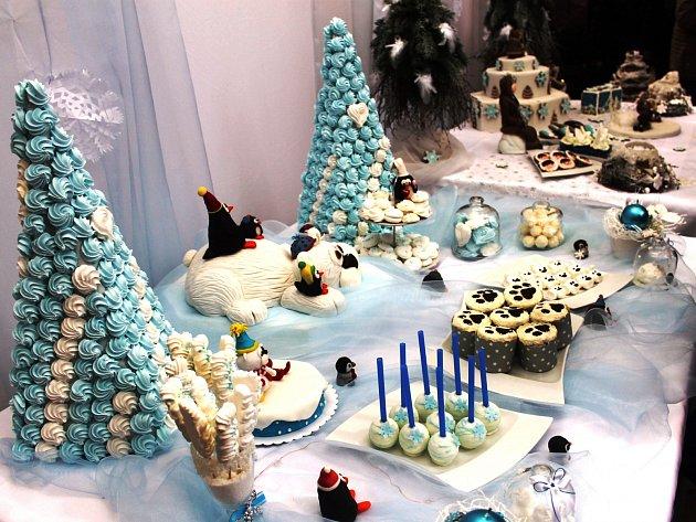Vánoční trhy v Nové Pace u Střední školy gastronomie a služeb