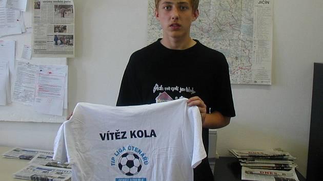Jan Nožička ze Soběrazi byl nejlepší v pátém kole Tipligy.