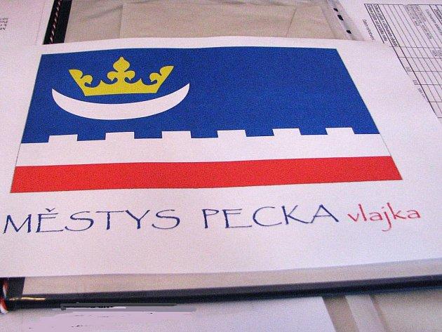 Návrh vlajky Pecky.