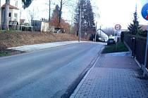 Nový chodník v Popovicích.